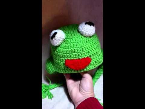 Tutorial Crochet Kermit the Frog beanie/hat