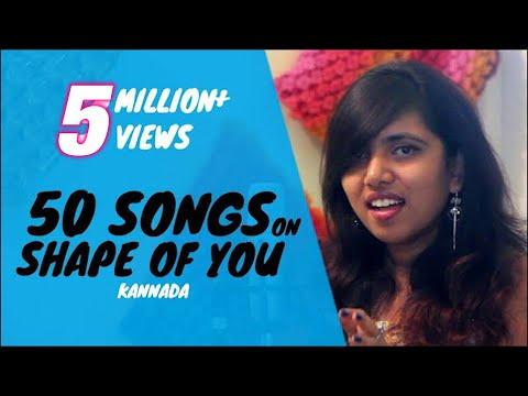 50 songs on Shape of you | Trendz to Retro | Kannada Medley | Eesha Suchi