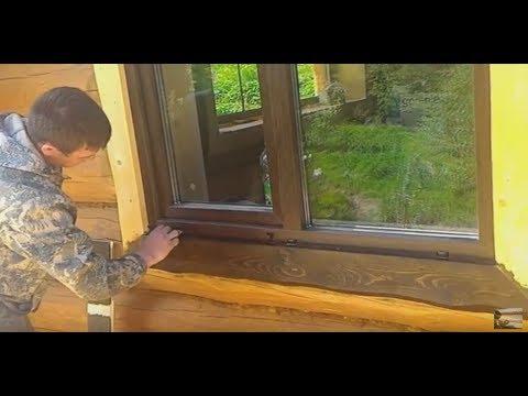 Обрабатываем наличники дома масловоск Анта в цвет древесины ценных пород