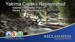 """Partners of the Yakima Basin Integrated Plan work together the replenish water in creeks that are essential steelhead habitat in the Yakima Basin. In 2015, weather conditions led to the snowpack melting off in the spring instead of in the fall, leaving the basin without its """"6th reservoir"""" to provide water to the system throughout the summer. This left crucial steelhead rearing habitat dry. Yakima Integrated Plan Members such as the Kittitas Reclamation District, Washington Department of Fish and Wildlife, Washington Department of Ecology, Yakama Nation, Bureau of Reclamation, National Marine Fisheries Service, and cities and counties came together to solve the problem, coming up with the Tributary Flow Supplementation Program. Learn more at: https://www.usbr.gov/pn/programs/yrbwep/2011integratedplan/index.html"""