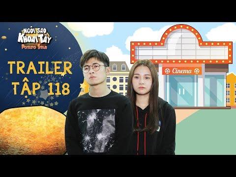 Ngôi sao khoai tây|trailer tập 118:Cả nhà thích thú khi Song Nghi, Hoàng Vũ mở rạp chiếu phim ở gara - Thời lượng: 59 giây.
