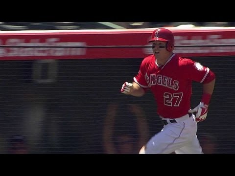 trouts - 4/20/13: Mike Trout crushes a grand slam in the bottom of the first, the first of his career, to pad the Angels' early lead.