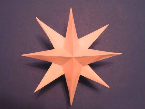 Оригами РОЖДЕСТВЕНСКАЯ ЗВЕЗДА 3D - елочная игрушка из бумаги своими руками: Free Video and related media - Mashpedia Player