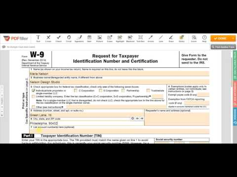 2017 IRS W-9 Form - Free Printable, Fillable | Download Blank Online