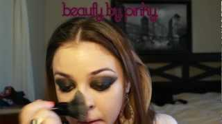 Black Smokey eye makeup tutorial - Beauty by Pinky - YouTube
