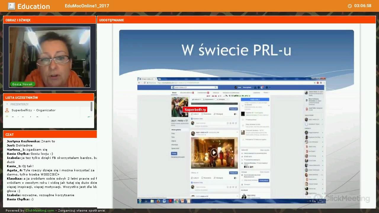 Małgorzata Nowak - wykorzystanie Facebooka do promocji klasy, szkoły, do nauki...