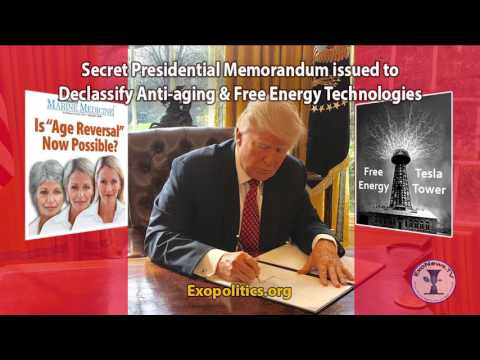 Secret Presidential Memorandum Issued To Declassify Anti-aging & Free Energy Technologies