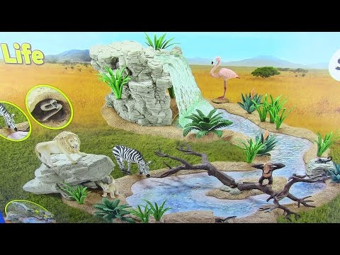ZOO Wild Animals In Jungle Safari I Schleich 42321 Toys Collection - video for kids