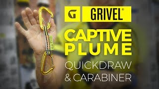 Grivel Captive Plume carabiner and quickdraw by WeighMyRack