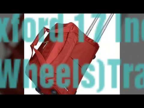 Di Grazia Oxford 17 Inch Luggage Trolley(2 Wheels)Travel Cabin Boarding Tote, Overnight Duffle Bag