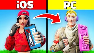 PLAYING with iOS ACCOUNTS (Fortnite Gun Game)