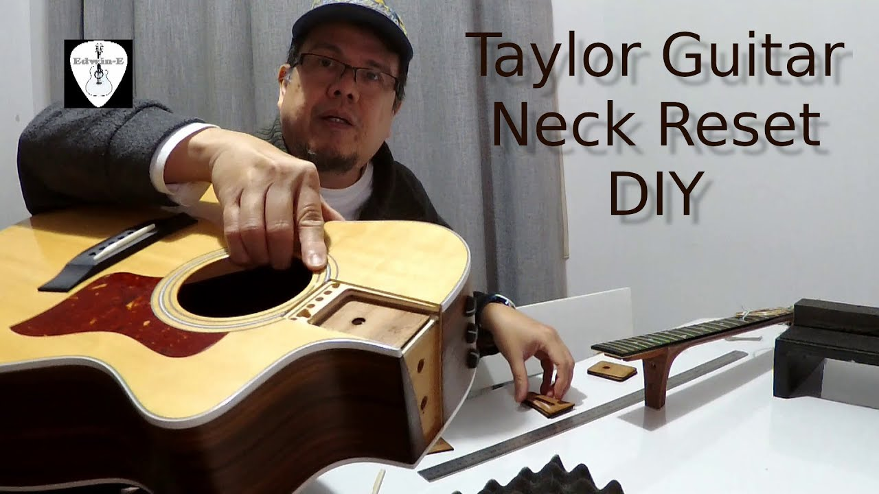 Taylor Acoustic Guitar Neck Reset DIY – Shims Replacement