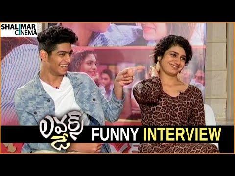 Funny movies - Lovers Day Movie Team Funny Interview  Priya Prakash Varrier, Roshan  Shalimarcinema