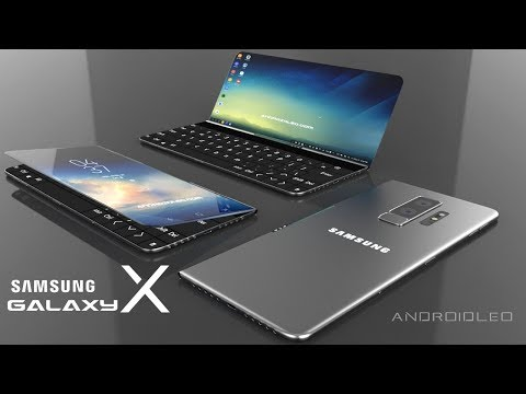 Samsung Galaxy X with 360° moving display, 8GB RAM (iPhone X killer) Best concept smartphone 2018