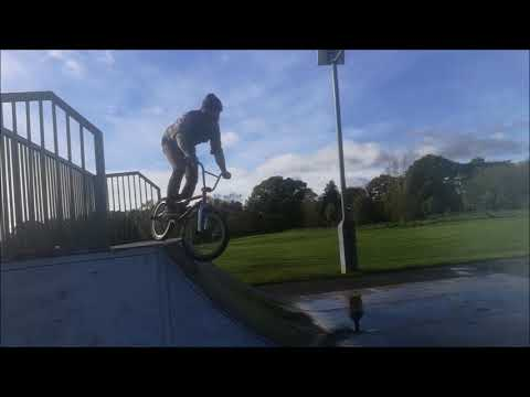 BMX DAD Drop-in fail in the wet