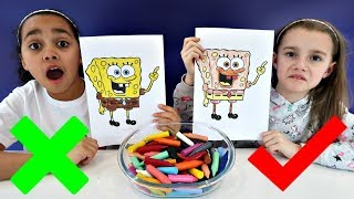Video 3 MARKER CHALLENGE With Spongebob Squarepants | Toys AndMe MP3, 3GP, MP4, WEBM, AVI, FLV Agustus 2018