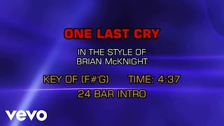Brian McKnight - One Last Cry (Karaoke)