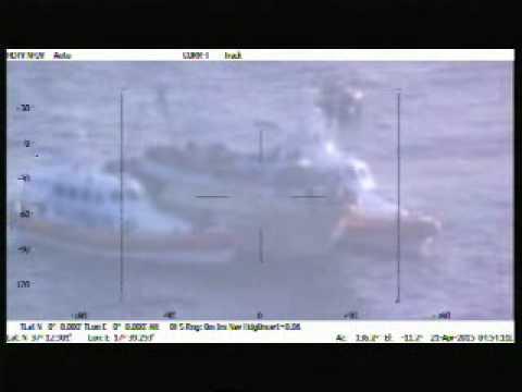 Operazione di recupero in mare aperto VIDEO