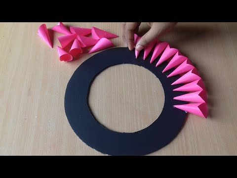 Paper Craft For Home Decoration   Wall Hanging Ideas   Paper Flower Wall Hanging   Paper Craft