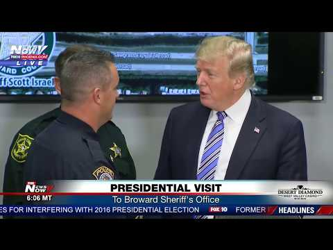 SURPRISE VISIT: POTUS visits Broward Sheriff's Office in FL following high school shooting (FNN)