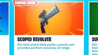 *NEW* Scoped Revolver Coming soon! Will it be OP? (Fortnite)