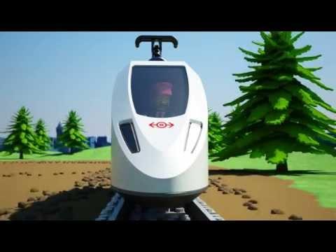 Лего 60051 Скоростной пассажирский поезд (видео)