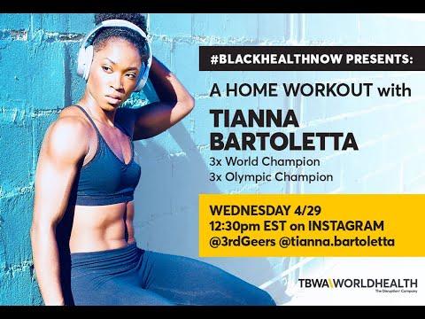 Tianna Bartoletta Workout–#BlackHealthNow Livestream