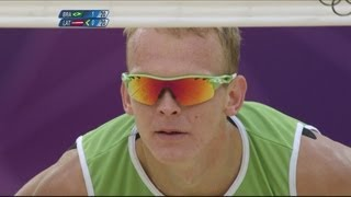 Download Video Men's Beach Volleyball Semi-Final - Brazil v Latvia | London 2012 Olympics MP3 3GP MP4