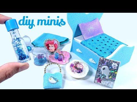 DIY The Little Mermaid Miniatures - Liquid Lava Lamp, Aquarium, & More!_Akvárium