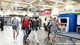 Super Junior arrived Adi Sucipto airport. Welcome to Jogja