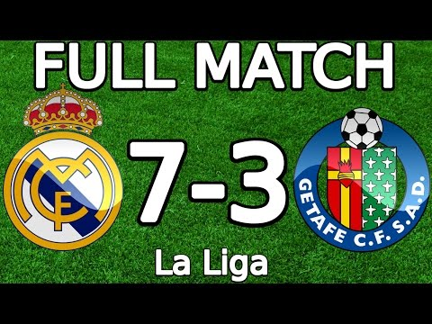 Real Madrid VS Getafe CF 7-3 FULL MATCH 23.05.2015 HD (La Liga) (ENGLISH COMMENTARY)