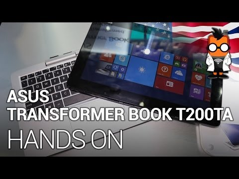 ASUS Transformer Book T200TA - 11.6 inch detachable notebook hands on at Computex 2014 [ENG]