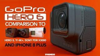 Video GoPro HERO 6 vs HERO 5, Yi 4K+, Sony FDR X3000 and iPhone 8 —In-Depth Review [4K] MP3, 3GP, MP4, WEBM, AVI, FLV Juli 2018