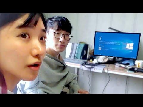 韓國企鵝妹自組電腦給弟弟!!