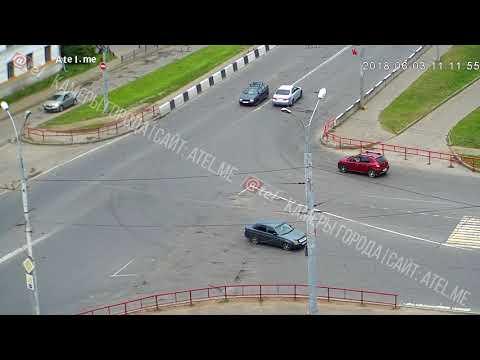 Авария в Рыбинске на улице Горького