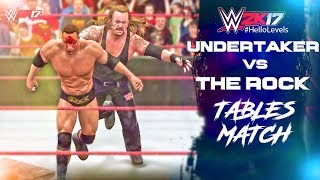 Playing As UNDERTAKER vs The Rock In WWE 2K17 Tables Match Gameplay I'll Be Playing More Of WWE 2K17 On This...