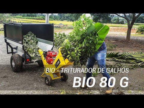 Triturador de galhos para galhos de 80 mm de diâmetro - Bio 80 G