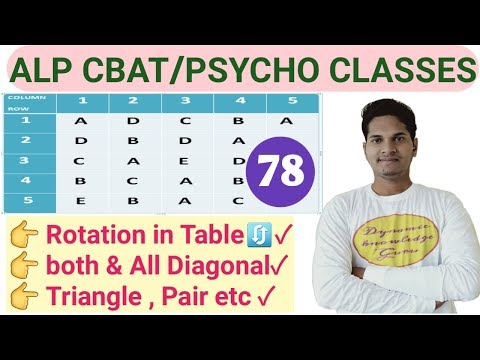 Clear Row Column Diagonal Doubts | Rrb Alp Psycho Test Tricks | Following Direction Test Best Tricks