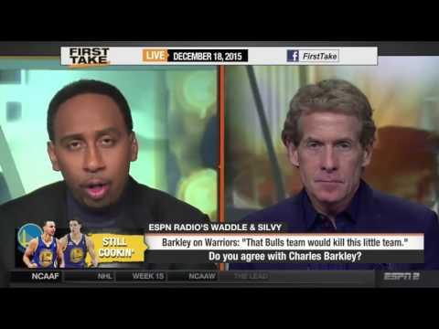 ESPN First Take   Charles Barkley   Bulls 72 Win Team Would Kill Warriors