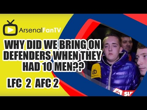 why - Why Did We Bring On Defenders When They Had 10 Men?? - Liverpool 2 Arsenal 2 AFTV ONLINE SHOP : http://goo.gl/rin8oW AFTV APP: IPHONE : http://goo.gl/1TNrv0 AFTV APP: ANDROID: ...