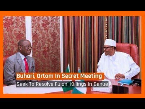 Nigeria News Today: Benue Killings: Buhari, Ortom In Secret Meeting (09/01/2018)