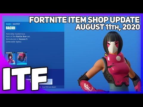 Fortnite Item Shop BACHII IS BACK! [August 11th, 2020] (Fortnite Battle Royale)