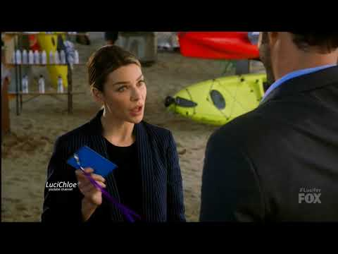 "Lucifer 3x12 Chloe Luci ""Detective Day""at the beach Season 3 Episode 12 S03E12"