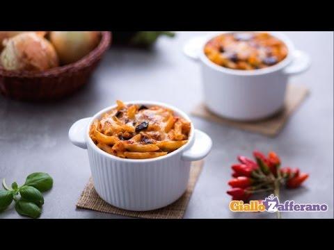 video ricette: mini penne alla siciliana.