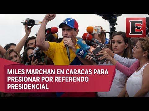 Oposición venezolana convoca a paro nacional este viernes