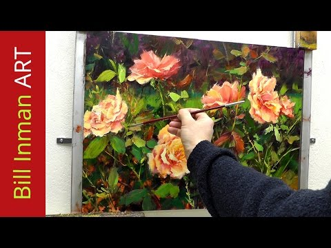 Fast Motion Oil Painting 'Sweet Summer Days' Roses