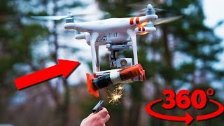 Deadly Firework Drone Attack with fireworks strapped to my drone in 360 vr. check out this deadly toy DIY experiment and be sure to use the 360 vr features. ...