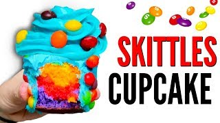 THE SKITTLES CUPCAKE DIY  How To Candy Cupcakesare y'all ready to learn how to make these iconic DIY skittles candy cupcakes? this rainbow recipe is so delicious forreal and it's probably one of the best desserts ever! it's actually one of the most delicious junk food creations i've made so far! the actual cupcake tastes just like skittles, but actually more like fruity pebbles and the frosting is so good! y'all need to try this candy recipe YAS!WATCH MY LAST VIDEO: https://youtu.be/akvrchmzM_0FOLLOW ME!Twitter  @TimmysWellInstagram  @TimmyswellSnapChat  timmyalvarezYounow  TimmyTimatothis cupcake is basically flavored like skittles and it has skittles candy, and frosting decorated on top! So basically what i did in this how to, was i first made the skittles cupcake mixture! i put flour and eggs and everything together and then i separated the mixture into 5 different bowls and flavored them all as different skittles flavors! I then added food coloring to all of them to get a pretty rainbow effect! i then made orange cream cheese frosting and coated the cupcake with it and top it off with tons of skittles! let me know what you guys think in the comments