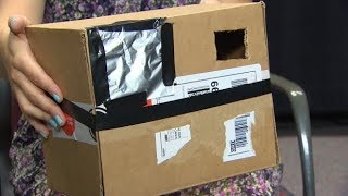 How to make a pinhole camera to watch the solar eclipse. This tutorial uses common household items, and is based on recommendations by NASA.What you need✔️ A box.✔️ Two sheets of white paper.✔️ Aluminum foil.✔️ Tape.✔️ A paper clip.✔️ A knife or scissors.How to make it First, cut a small piece of paper and paste it on the inside of the box.Next, cut out a hole in the box on the opposite side of the box. Cover the hole up with tin foil and poke a small hole in the centre. On the same side of the box, cut out another viewing hole.Read more: www.cbc.ca/1.4247104»»» Subscribe to CBC News to watch more videos: http://bit.ly/1RreYWSConnect with CBC News Online:For breaking news, video, audio and in-depth coverage: http://bit.ly/1Z0m6iXFind CBC News on Facebook: http://bit.ly/1WjG36mFollow CBC News on Twitter: http://bit.ly/1sA5P9HFor breaking news on Twitter: http://bit.ly/1WjDyksFollow CBC News on Instagram: http://bit.ly/1Z0iE7ODownload the CBC News app for iOS: http://apple.co/25mpsUzDownload the CBC News app for Android: http://bit.ly/1XxuozZ»»»»»»»»»»»»»»»»»»For more than 75 years, CBC News has been the source Canadians turn to, to keep them informed about their communities, their country and their world. Through regional and national programming on multiple platforms, including CBC Television, CBC News Network, CBC Radio, CBCNews.ca, mobile and on-demand, CBC News and its internationally recognized team of award-winning journalists deliver the breaking stories, the issues, the analyses and the personalities that matter to Canadians.