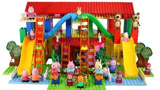 Video Peppa Pig Blocks Mega House Building Playset With Masha And The Bear LEGO Creations Toys Sets #7 MP3, 3GP, MP4, WEBM, AVI, FLV Maret 2019